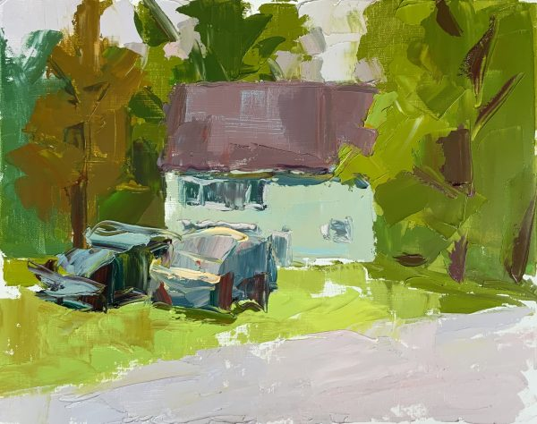 "Peter Clapper-Barn at the Woodstock School of Art-16""x20""-Oil-Unframed"